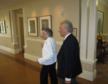 Professor Elie Wiesel with Board President Edith Everett